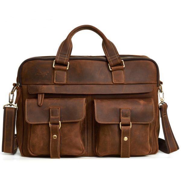 Genuine Cowhide Business Bag For Men 5