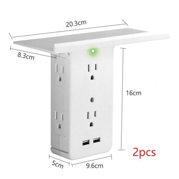 Socket Shelf - Tray Wall Bracket Wall Plug 4