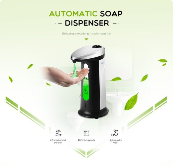 400Ml Automatic Liquid Soap Dispenser 4