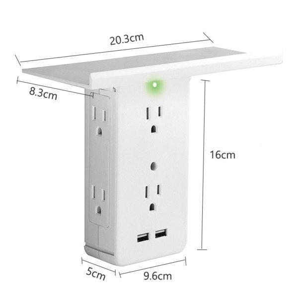 Socket Shelf - Tray Wall Bracket Wall Plug 3