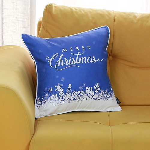Christmas Snow View Printed Decorative Throw Pillow Cover 1