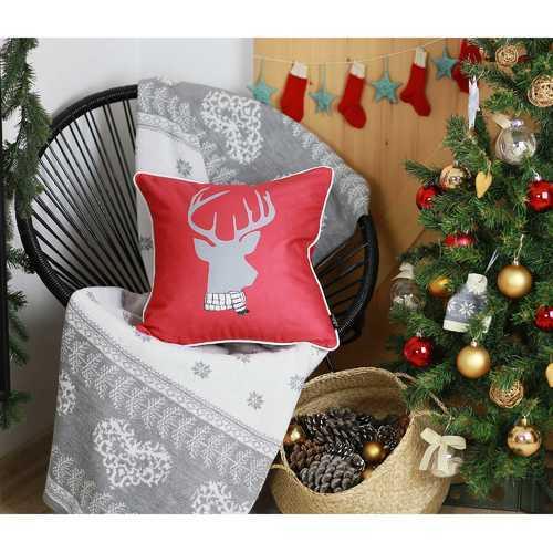 Christmas Deer Printed Decorative Throw Pillow Cover 2