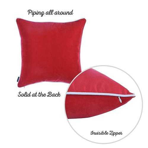 Christmas Deer Printed Decorative Throw Pillow Cover 4