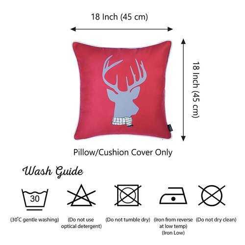 Christmas Deer Printed Decorative Throw Pillow Cover 5