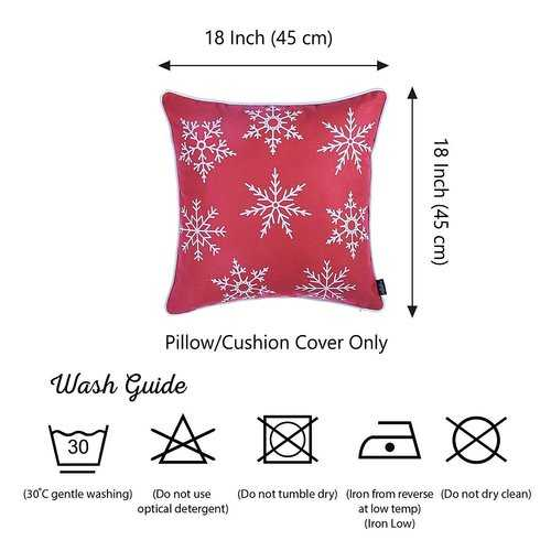 Red Snowflakes Christmas Decorative Throw Pillow Cover 5