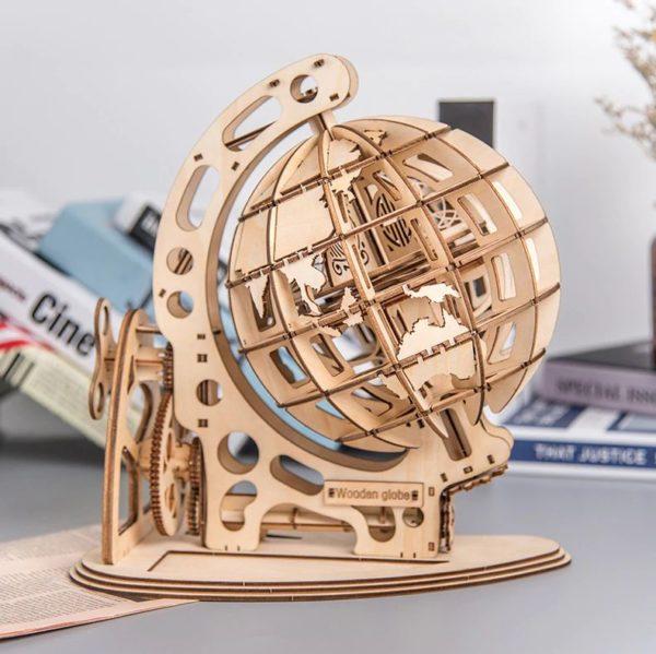 3D Wooden Globe - 2