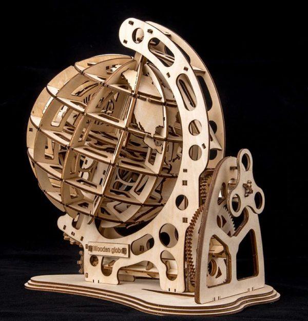 3D Wooden Globe - 5