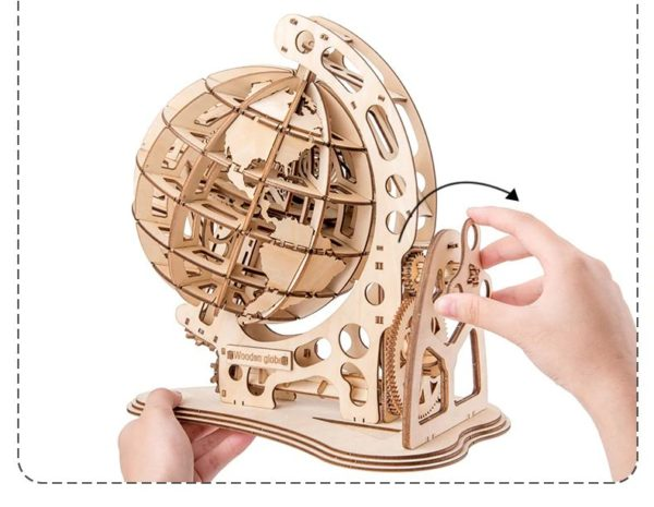 3D Wooden Globe - 7