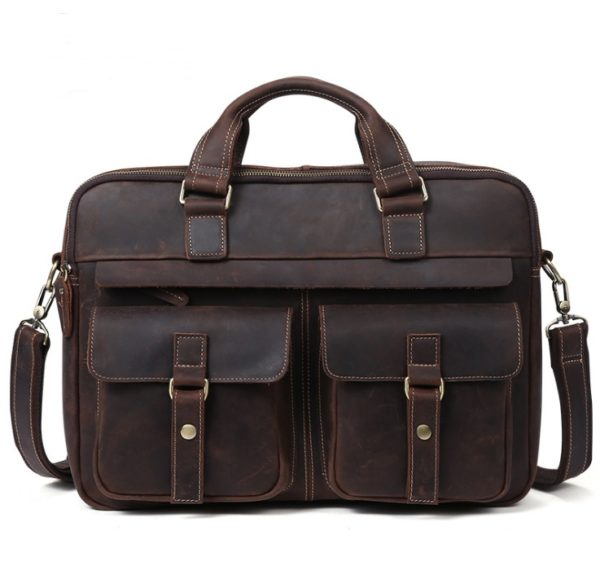 Genuine Cowhide Business Bag For Men 6