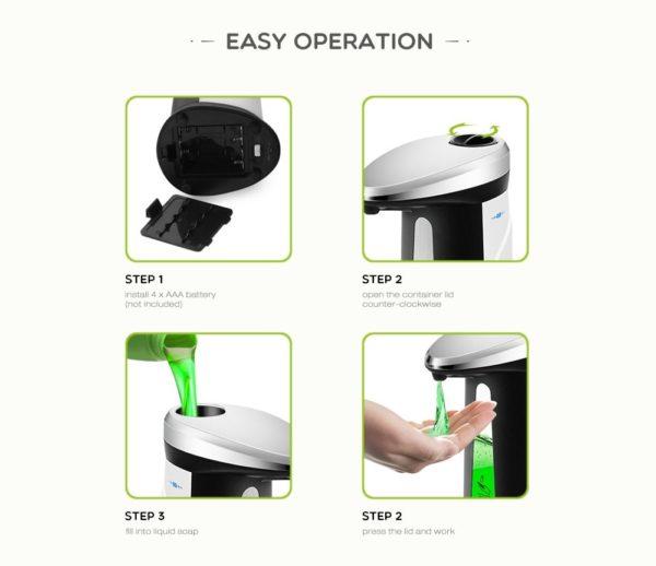 400Ml Automatic Liquid Soap Dispenser 8