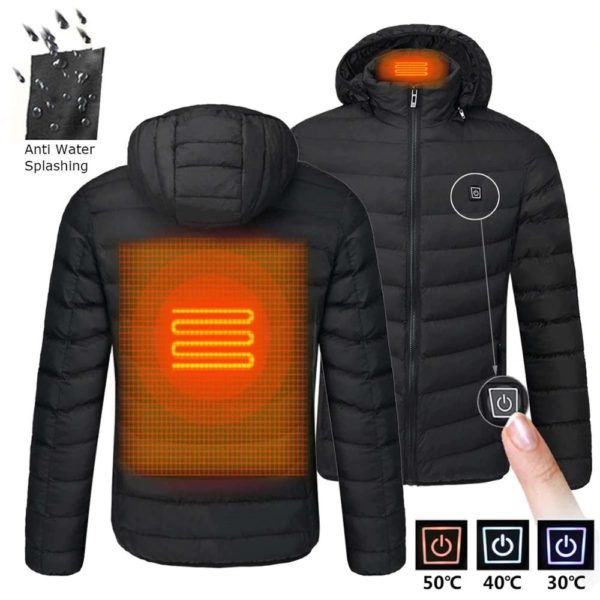 Men's Hooded USB Heated Jackets - 10