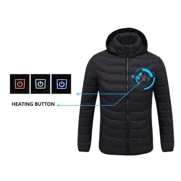 Men's Hooded USB Heated Jackets - 11