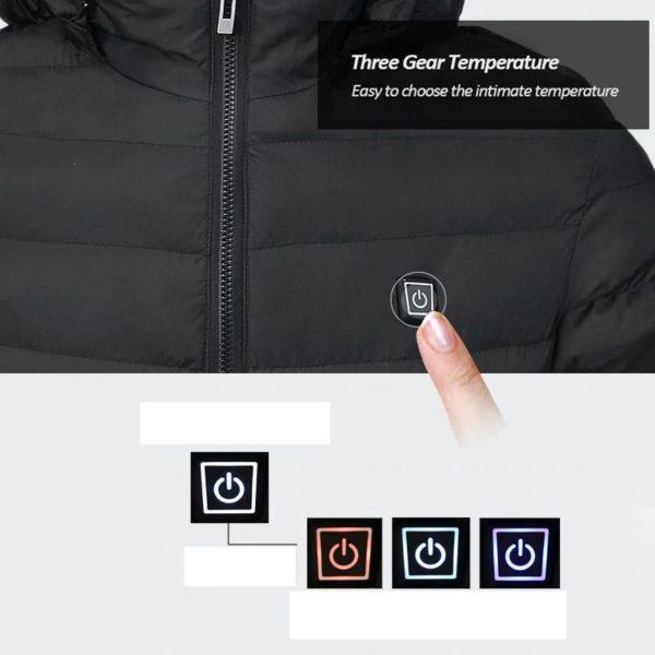 Men's Hooded USB Heated Jackets - 8