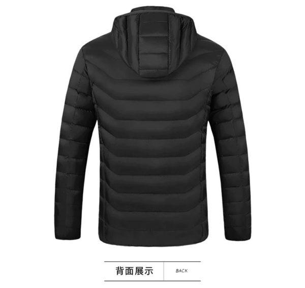Men's Hooded USB Heated Jackets - Back