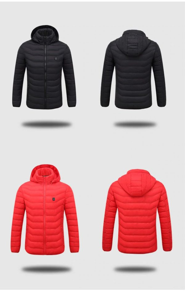 Men's Hooded USB Heated Jackets - Colours