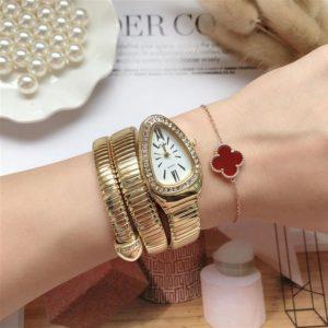 Womens Snake Bracelet Watch