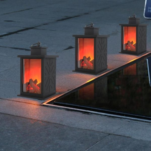Simulated Fireplace Battery Powered Decorative Lights 1
