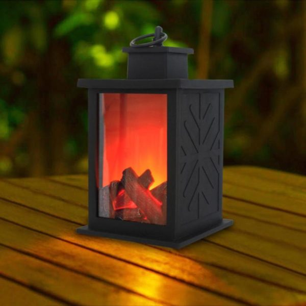 Simulated Fireplace Battery Powered Decorative Lights 2