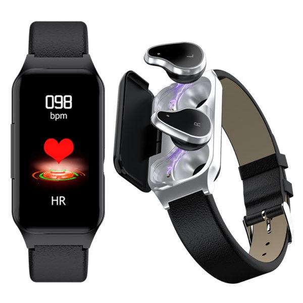 Fitness Smart Watch with Bluetooth Earphones