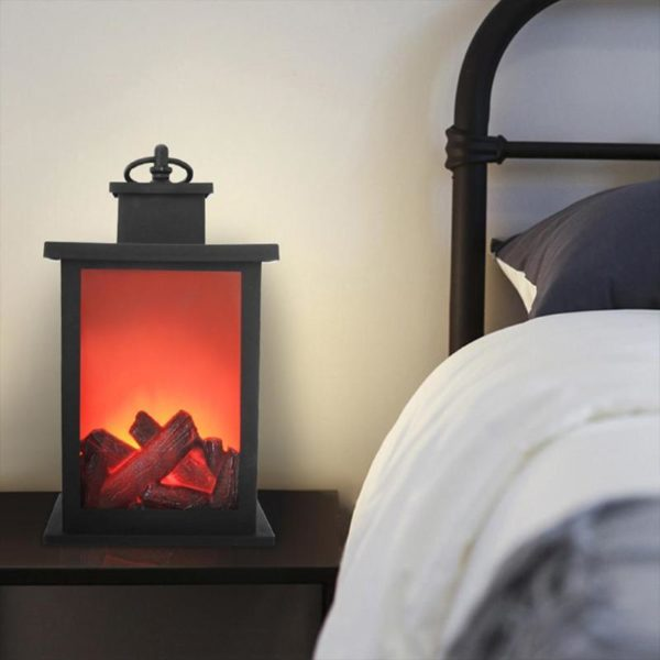 Simulated Fireplace Battery Powered Decorative Lights 4