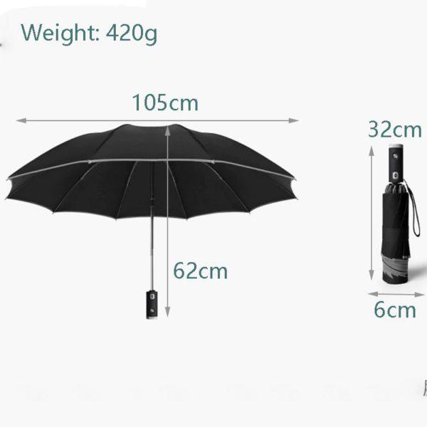 Inverse LED Umbrella - Dimension