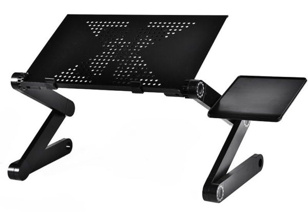 Foldable Ergonomic Laptop Stand With Cooling Fan And Mousepad - 10