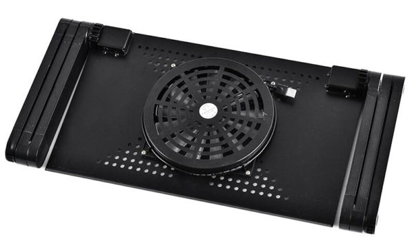 Foldable Ergonomic Laptop Stand With Cooling Fan And Mousepad - 11