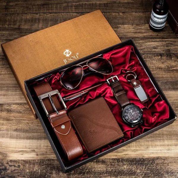 Mens Luxury Gift Set - Brown - Boxed