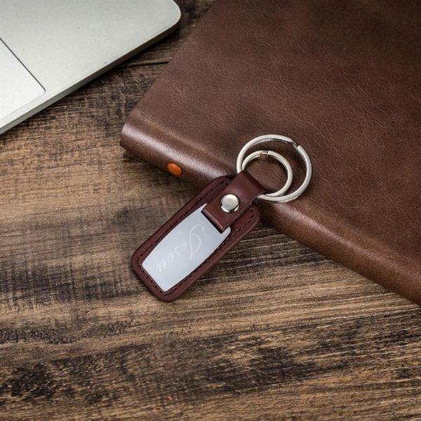 Mens Luxury Gift Set - Brown - Keychain