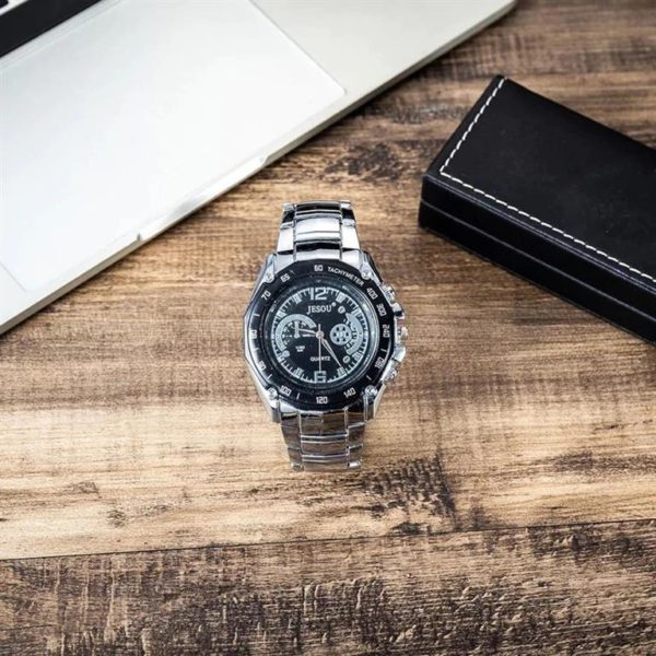 Mens Luxury Gift Set With Cufflinks, Pen, Wallet and Watch - Watch