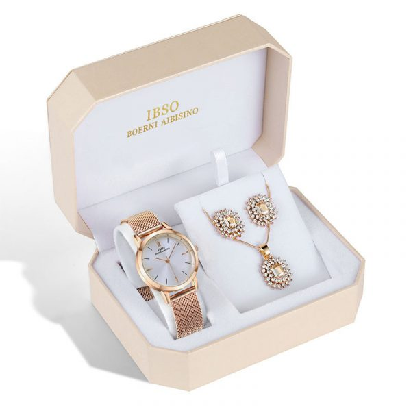 Watch Jewelry Set - Watch, Earrings, And Necklace 2