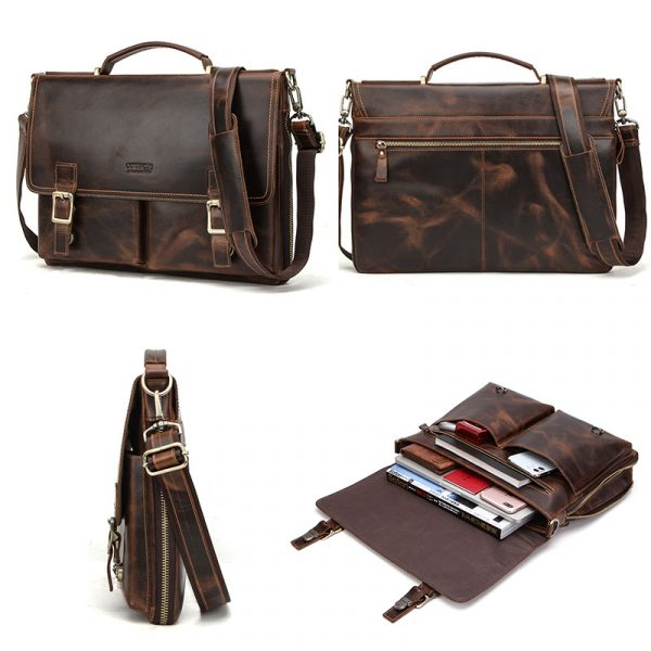 Leather Mens Business Briefcase 2