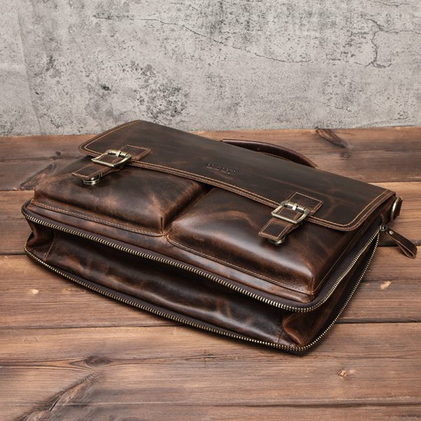 Leather Mens Business Briefcase 5