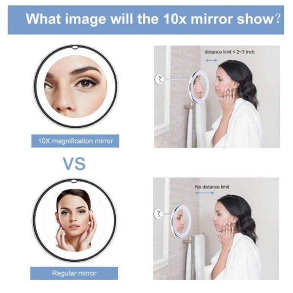 Flexible Gooseneck Makeup Mirror 3