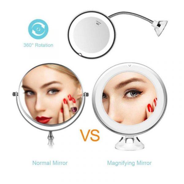 Flexible Gooseneck Makeup Mirror 5