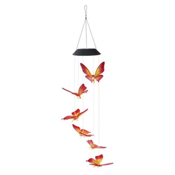 Solar Powered LED Butterfly Wind Chimes 4