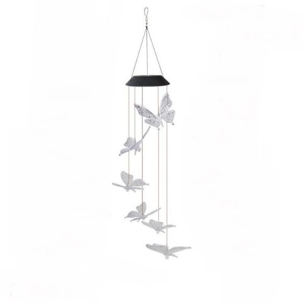 Solar Powered LED Butterfly Wind Chimes 5