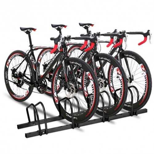 4 Bike Parking Garage Rack Storage Stand - Black 1