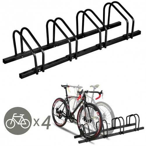 4 Bike Parking Garage Rack Storage Stand - Black 2
