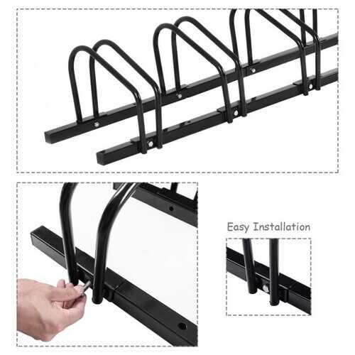 4 Bike Parking Garage Rack Storage Stand - Black 3