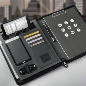 Business Document Holder With Power Bank