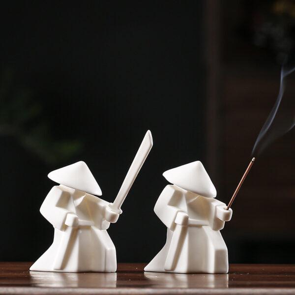 Ceramic Warrior Incense Burner Tray 4