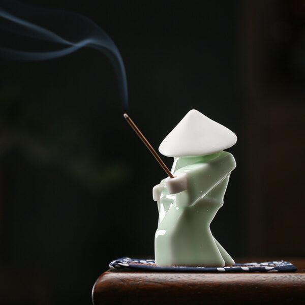 Ceramic Warrior Incense Burner Tray 3