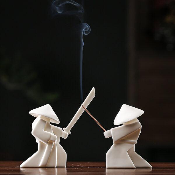 Ceramic Warrior Incense Burner Tray
