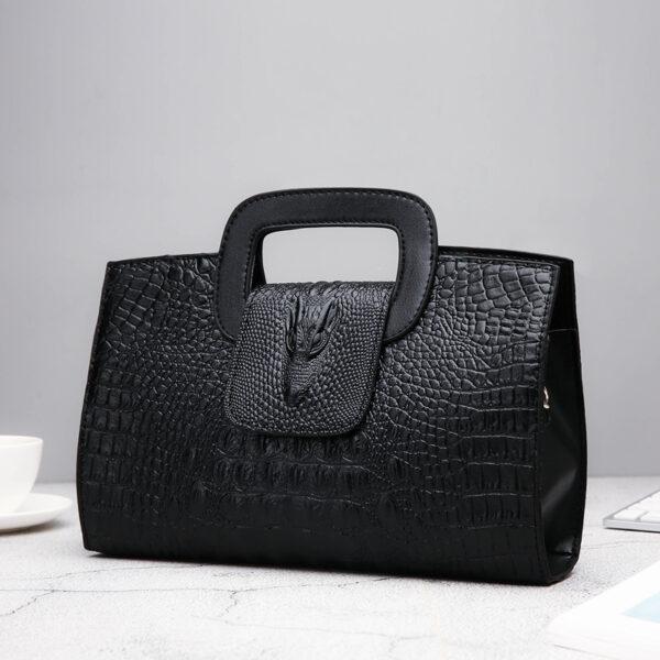 Crocodile Faux Leather Handbag