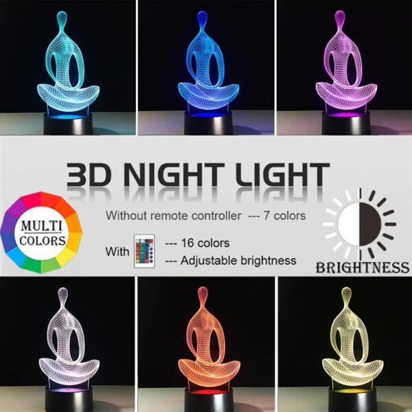 3D Yoga Night Light 1