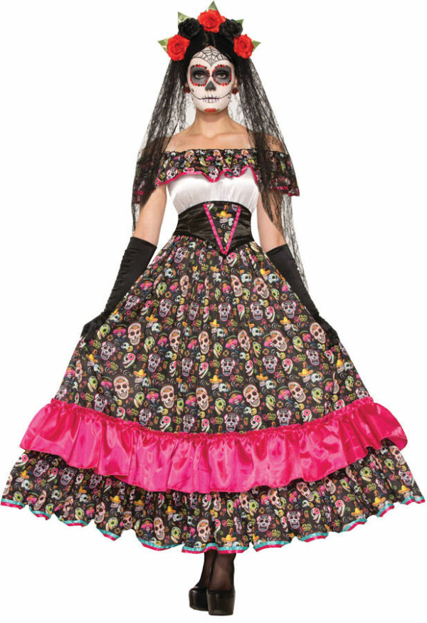 DAY OF DEAD SPANISH LADY 1